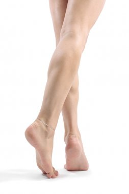 Legs and feet isolated over white