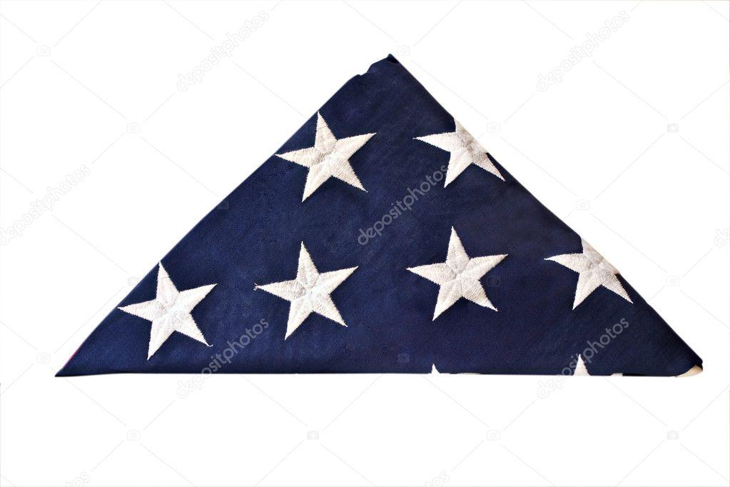 gefaltete amerikanische Flagge — Stockfoto © StephanieFrey #2960985