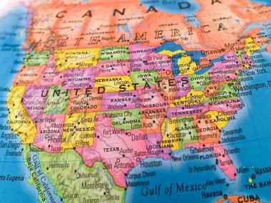 """Картина, постер, плакат, фотообои """"глобальные исследования красочный крупный план united stat """", артикул 2763538"""