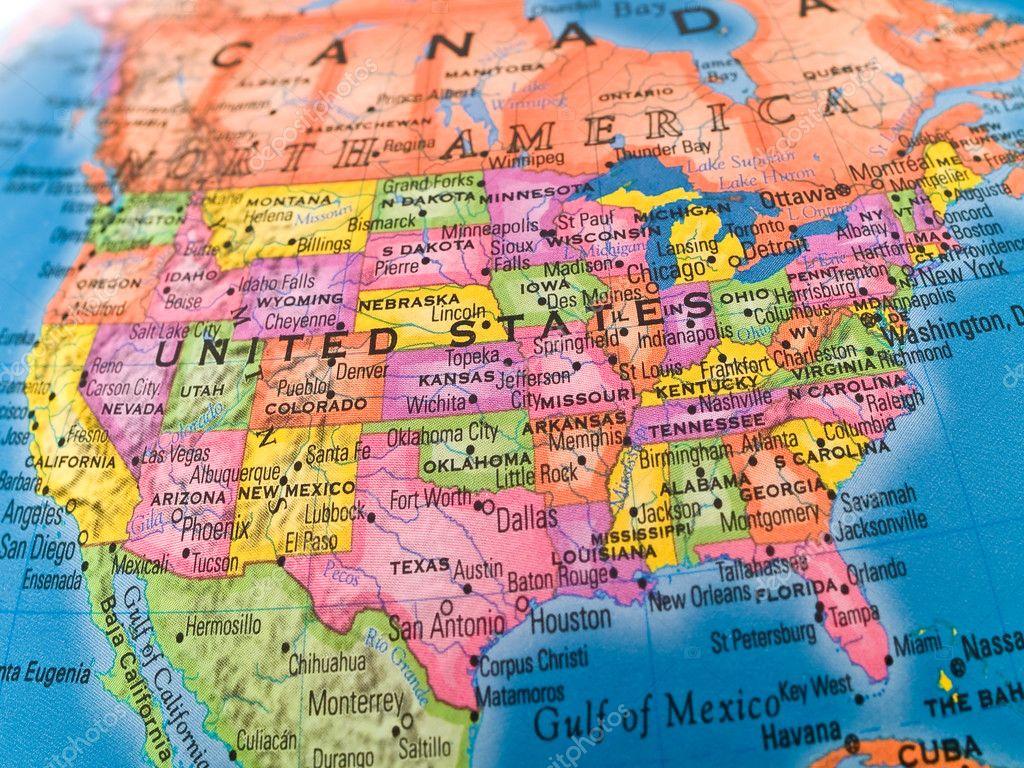 Global Studies A Colorful Closeup of United Stat