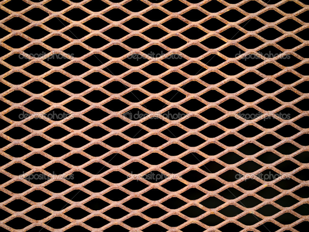 Decorative Metal Grates Rusted Metal Grate Securing A Tunnel Hole Stock Photo
