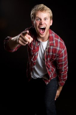 Yelling Pointing Man