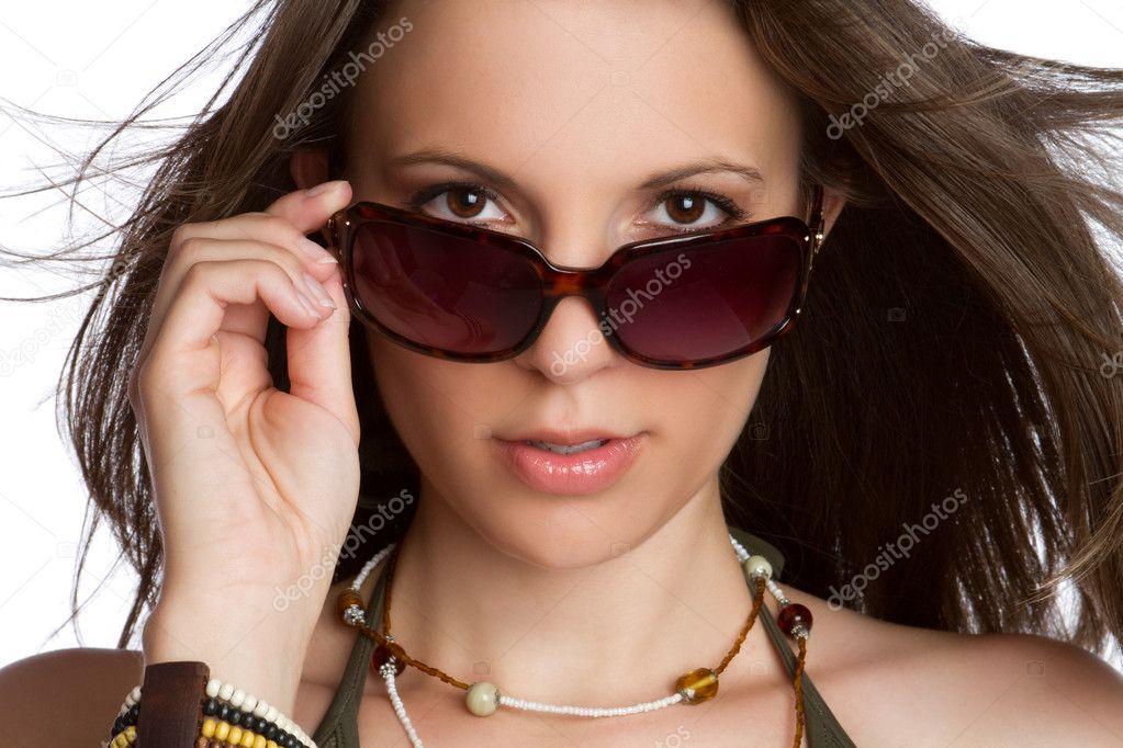 Fotos Mujeres Con Gafas Oscuras Mujer Sexy Gafas De Sol