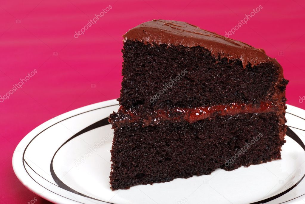 chocolate cake with strawberry filling chocolate cake with strawberry filling stock photo 2840