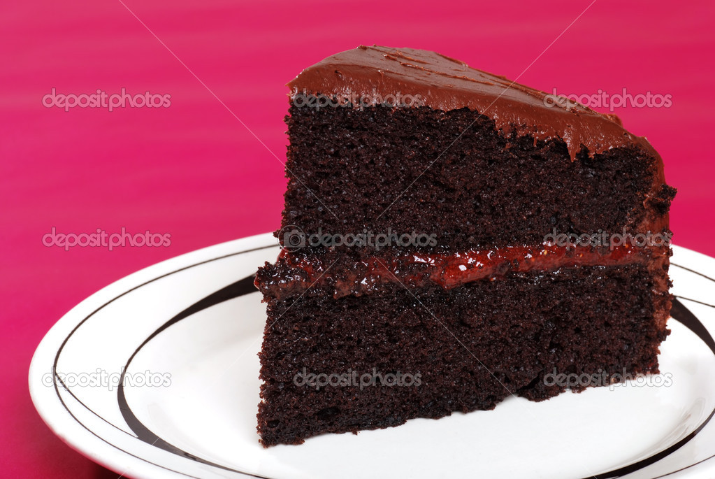 chocolate cake filling chocolate cake with strawberry filling stock photo 2821