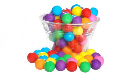 Bubble gum in a bowl