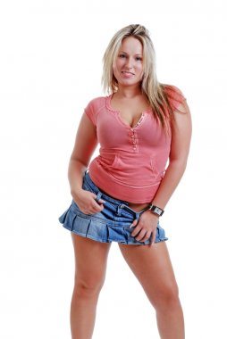 Sexy blonde female