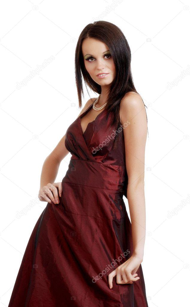 Sexy european brunette