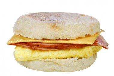 Scrambled egg ham cheese sandwich