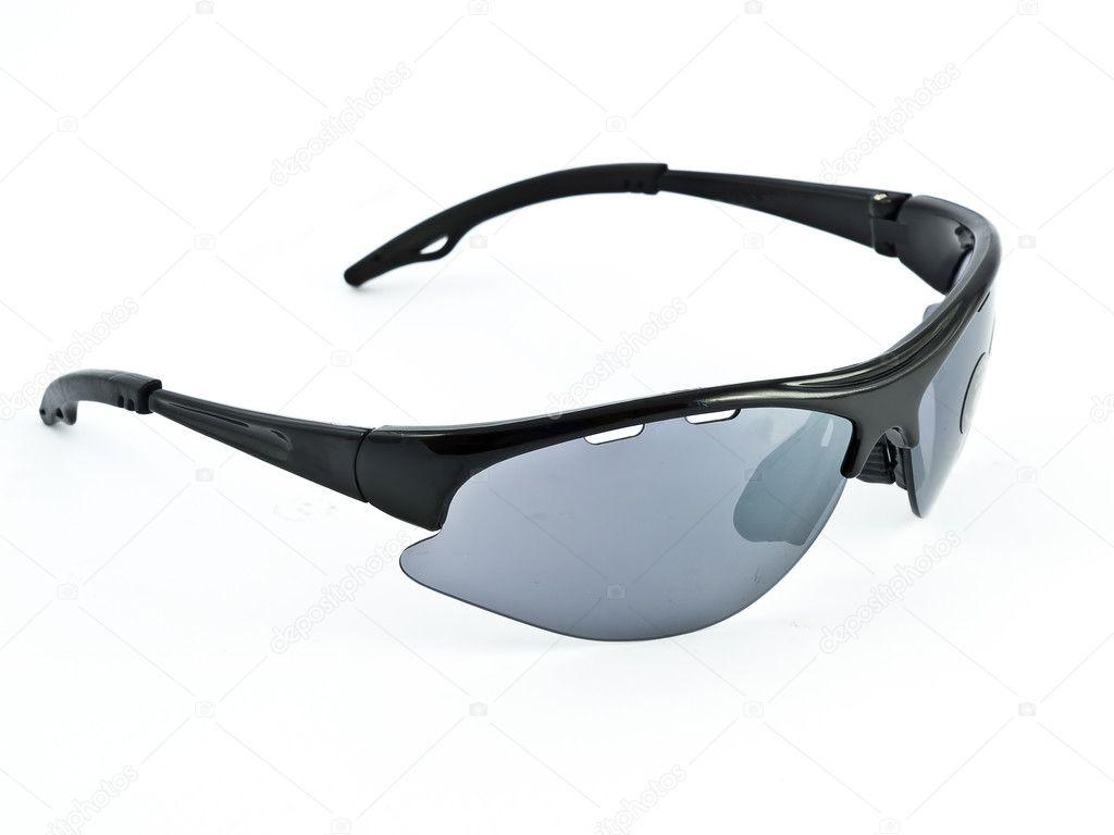 645c995f9b Ένα απομονωμένο εικόνα της ποδηλασίας γυαλιά με φακούς γκρι — Εικόνα από ...