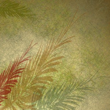 Floral frond abstract background paper