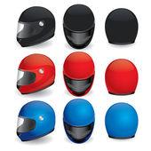 Vektorové sada helmy