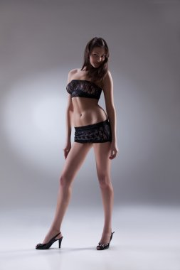 Young Brunette In Lingerie