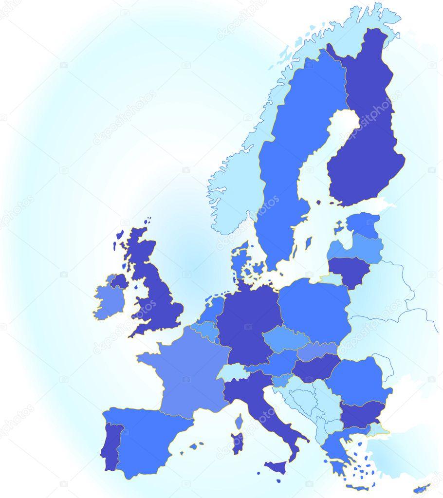 Karte Eu.Europa Karte Eu Stock Vector Scusi0 9 2711635