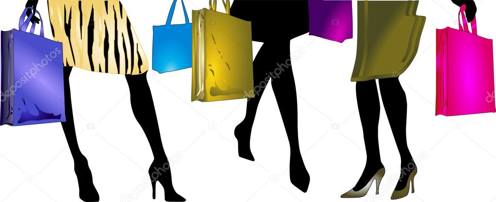 f3d87e8d6 Ladies to go shopping — Stock Vector © scusi0-9 #2924722