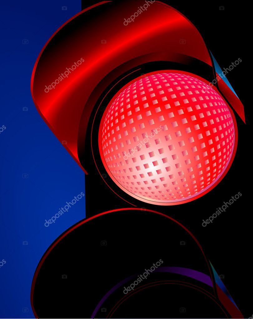 traffic light red ⬇ vector image by © scusi0-9 | vector stock 2934868  depositphotos