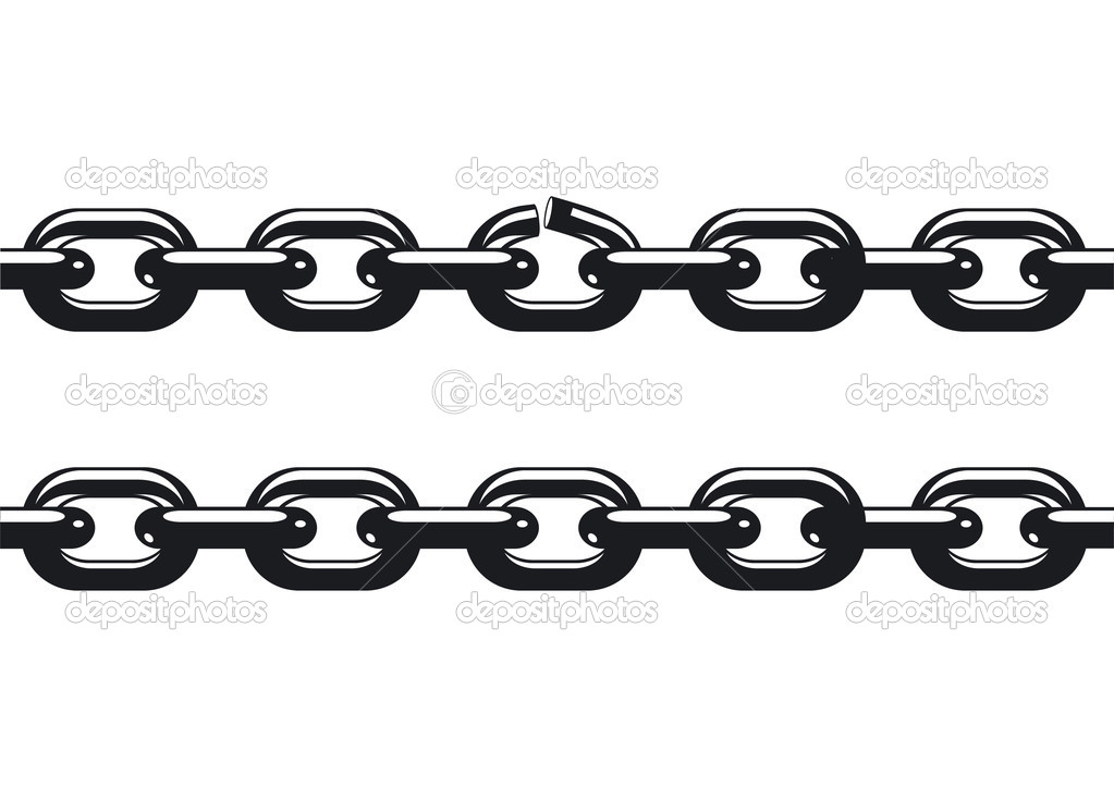 weakest link of a chain stock vector scusi0 9 3770900 rh depositphotos com chain factory, leamington,1953 chain vector illustrator