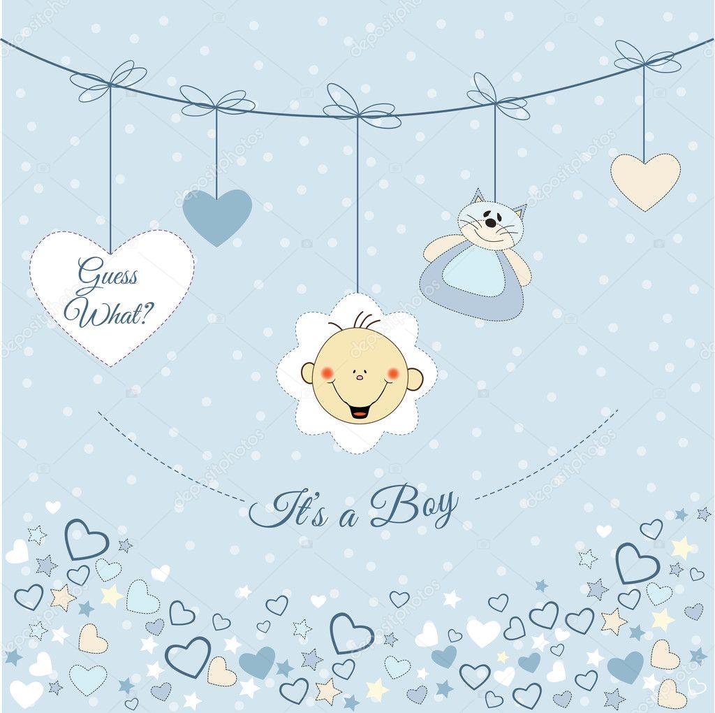 Baby Boy Announcement Stock Vector ClaudiaBalasoiu - Boy announcement