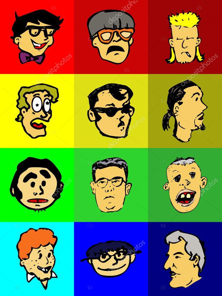 Funny Icons (Avatars) — Stock Photo © Memo34 #3424361