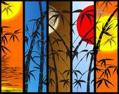 Fényképek vertikális banner-bambusz