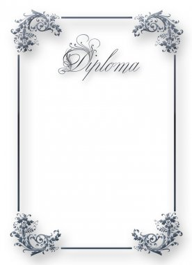 Diploma. Decorative framework.