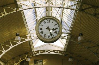 Big hanging public clocks