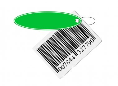 Bar code with labeling