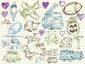 Photo Mega Big Sketch Doodle Vector Set