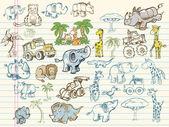 Fotografia schizzo doodle mega set insieme vettoriale