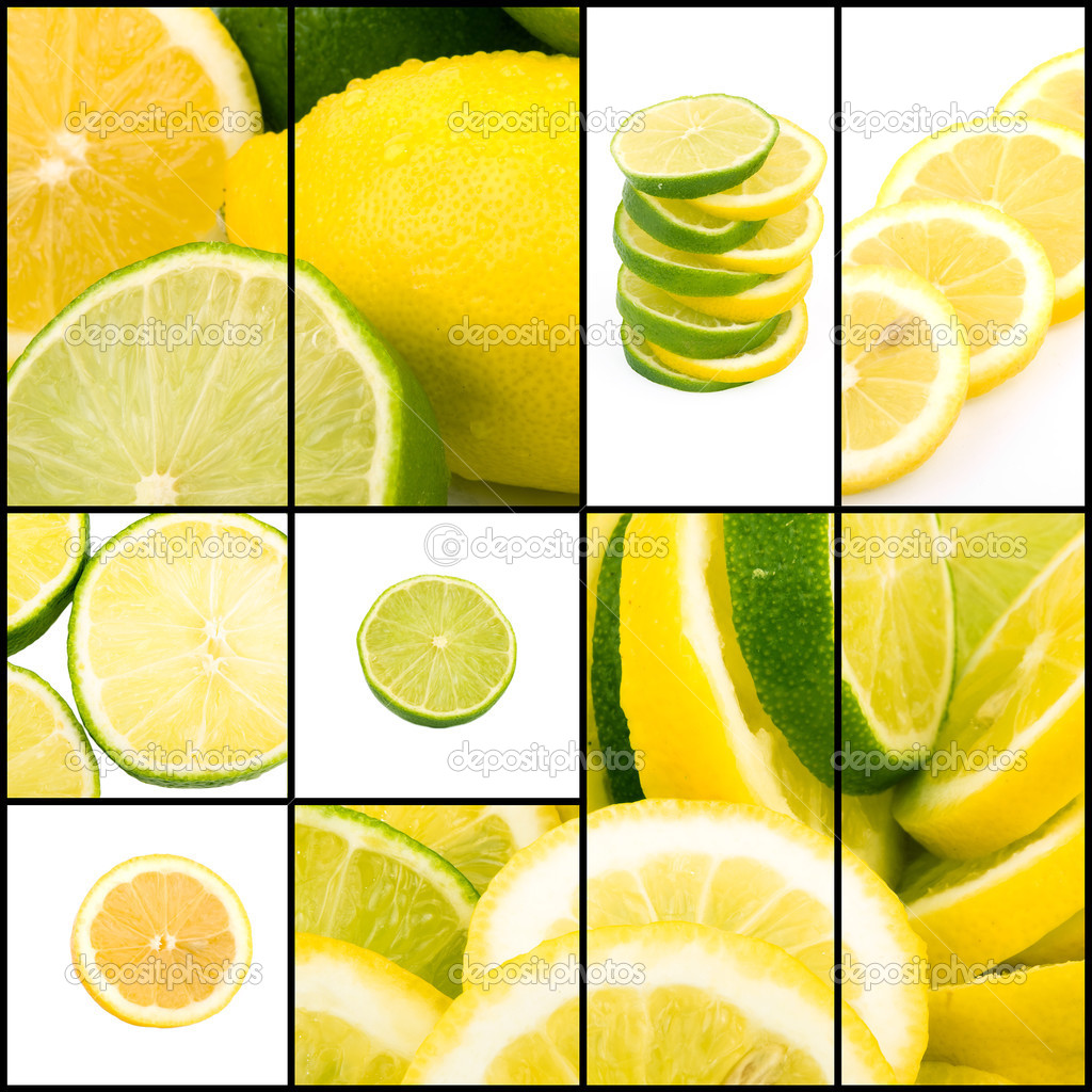 Lemon and lime collage
