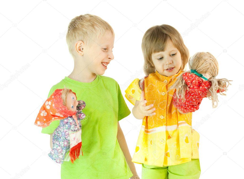 картинки дети играют в театр