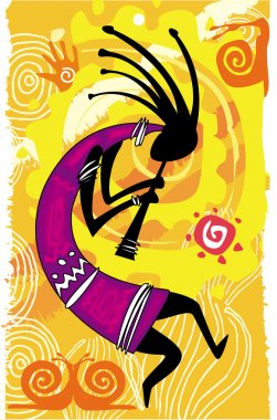 Dancing figure. Kokopelli