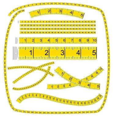 Art Brush «Measuring tape» (see palette brush in file) clip art vector