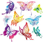 Photo Colored butterflies