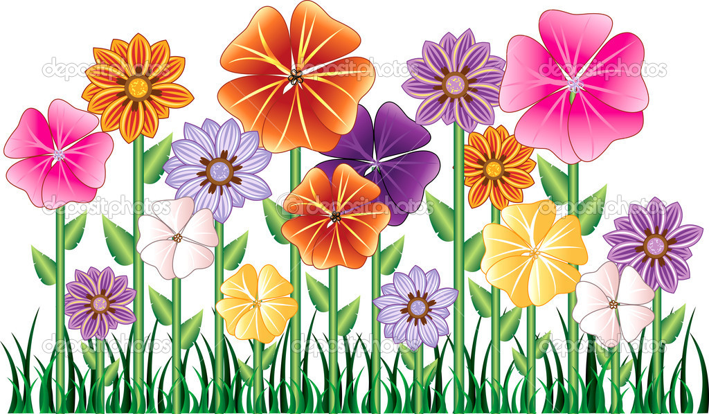 Flower Garden Stock Illustration