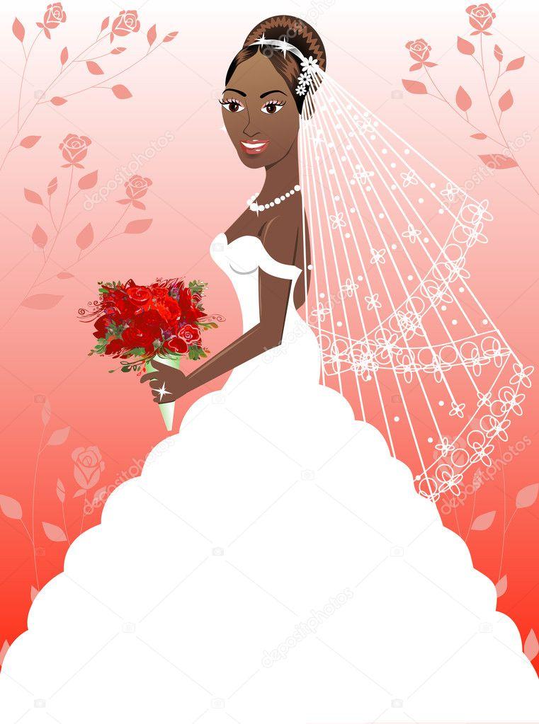 vestido de novia 4 — Vector de stock © BasheeraDesigns #3116772
