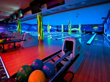 Interior bowling alley