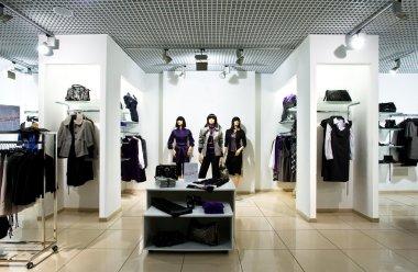 Interior of shop of clothes stock vector