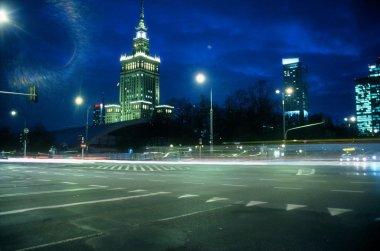 Warsaw city night