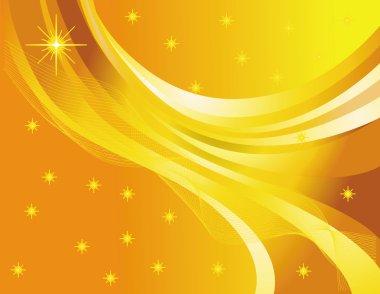 "Картина, постер, плакат, фотообои ""Звезда абстракции на желтом фоне"", артикул 2967934"
