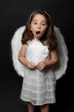 Angel singing carols or worship