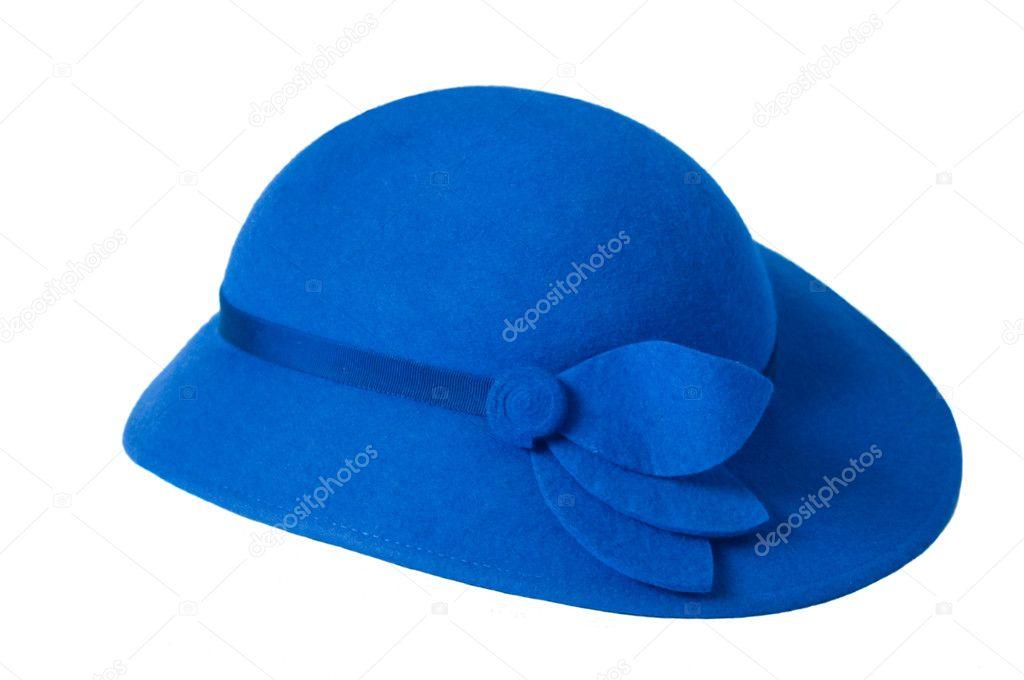 un sombrero azul damas — Fotos de Stock © arievdwolde #3146218