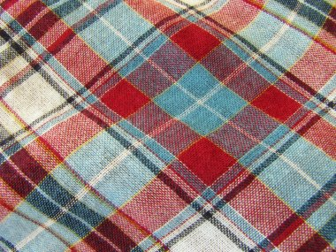 Background of plaid fabric