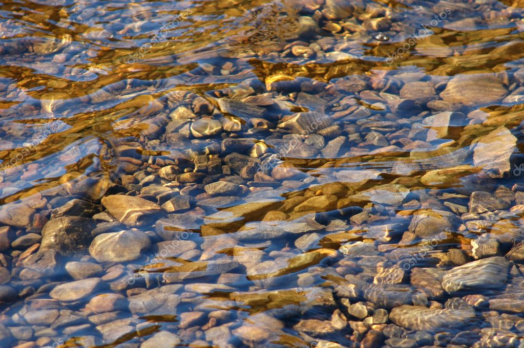 Abstract background of river stones