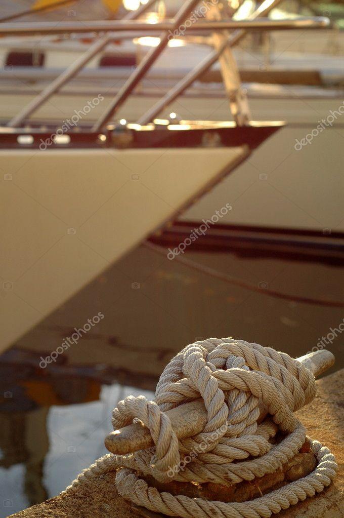 Luxury Yacht in Marina