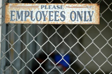 Employees Only Sign at Abandoned Warehouse