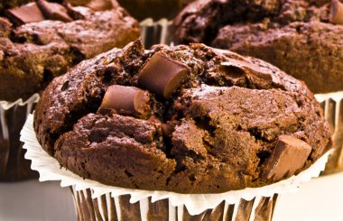 Homemade Double Chocolate Muffins