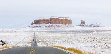 Monument Valley National Park in winter, Utah, Arizona, USA stock vector