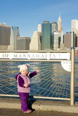 Little girl at Manhattan