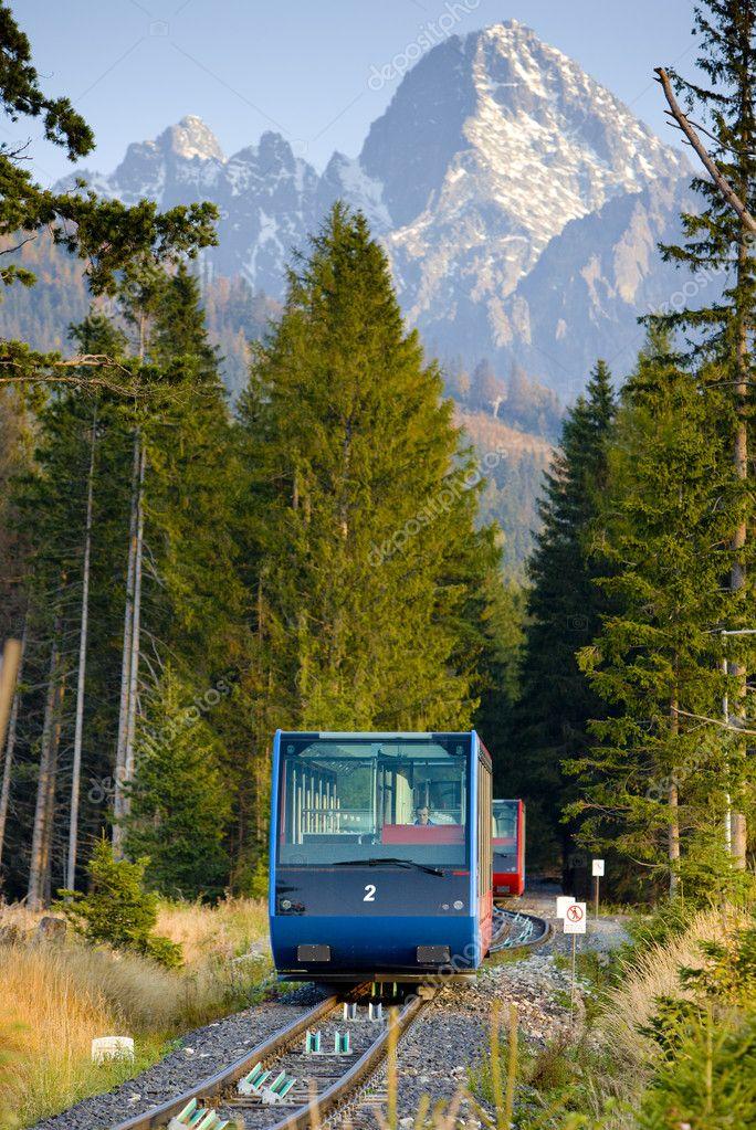 High Tatras.Cableway to Hrebienok, Vysoke Tatry (High Tatras), Slovakia